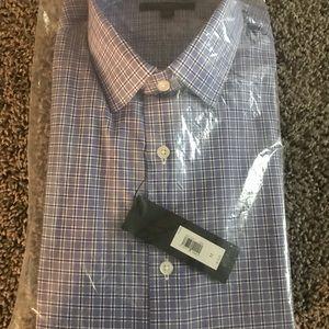 NWT Grant Slim-Fit Non-Iron Check Dress Shirt